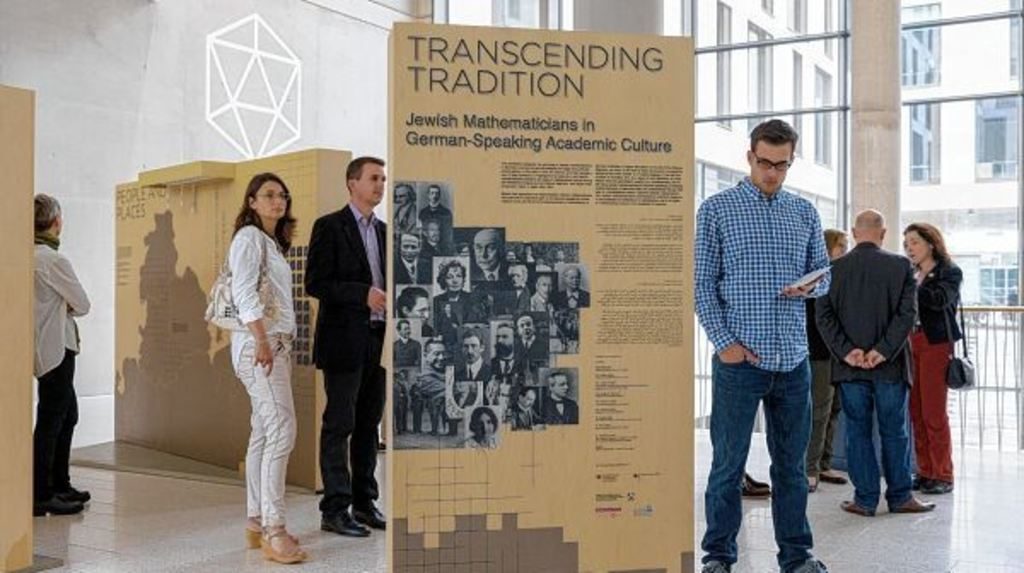 People in exhibition on Jews