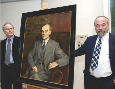 Unveiling of Heinrich Liebmann portrait